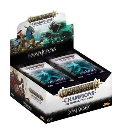 Warhammer Age of Sigmar: Champions Wave 2: Onslaught Boosterdisplay (engl.)
