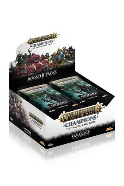 Warhammer Age of Sigmar: Champions Wave 3: Savagery Boosterdisplay (engl.)