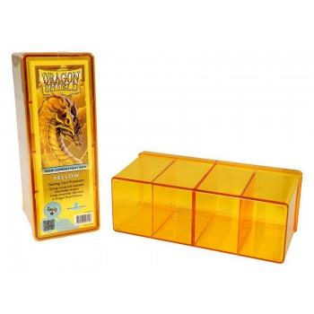 Dragon Shield 4-Compartment Box Yellow
