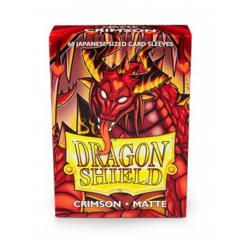 Dragon Shield Mini Card Matte Sleeves Crimson (60)