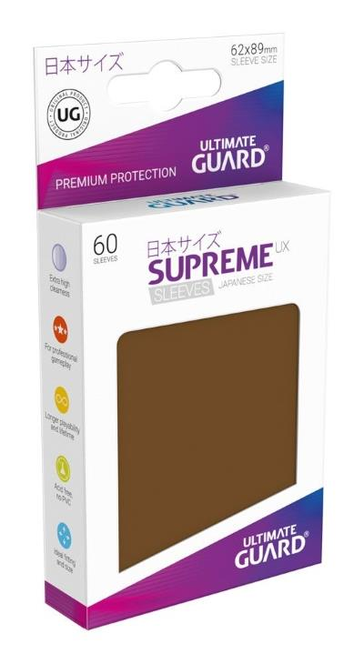 Ultimate Guard Supreme UX Sleeves Small Brown (60)