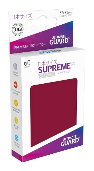 Ultimate Guard Supreme UX Sleeves Small Red (60)