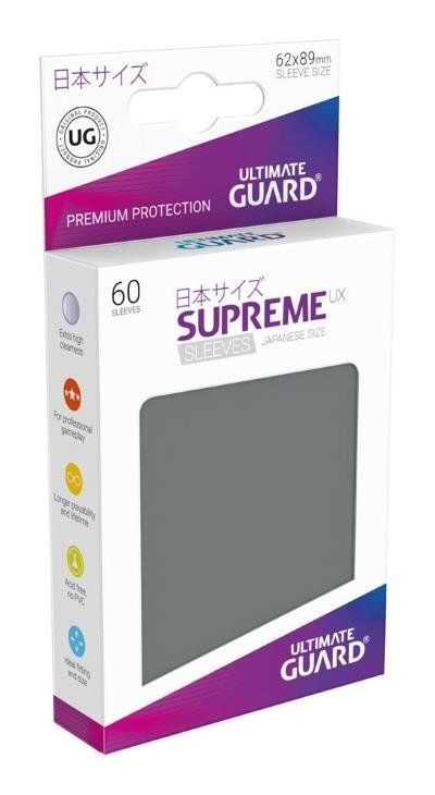 Ultimate Guard Supreme UX Sleeves Small Grey (60)
