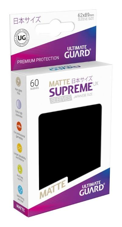 Ultimate Guard Supreme UX Sleeves Small Matte Black (60)