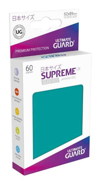 Ultimate Guard Supreme UX Sleeves Small Petrol (60)