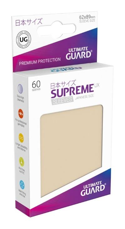 Ultimate Guard Supreme UX Sleeves Small Sand (60)