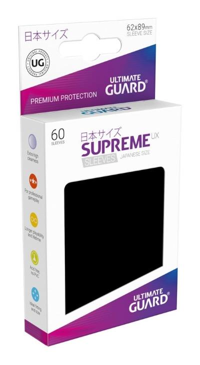Ultimate Guard Supreme UX Sleeves Small Black (60)