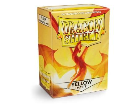 Dragon Shield Matte Sleeves Yellow (100)