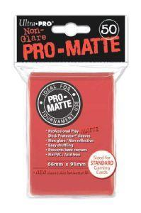 Ultra Pro Matte Sleeves Red (50)