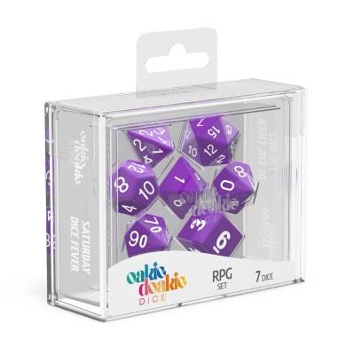Oakie Doakie Dice Würfel RPG-Set Solid - Lila (7)