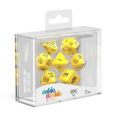 Oakie Doakie Dice Würfel RPG-Set Solid - Gelb (7)