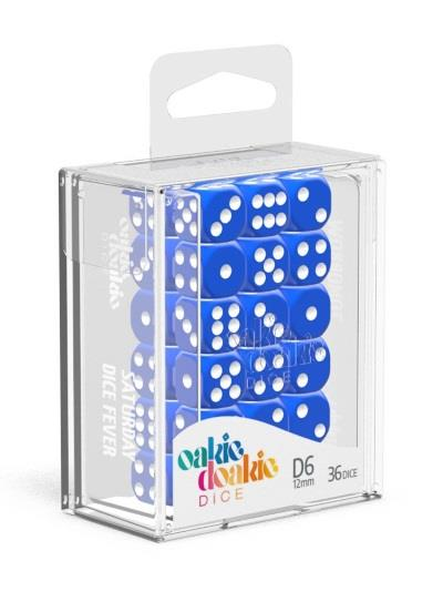 Oakie Doakie Dice W6 Würfel 12 mm Solid - Blue (36)